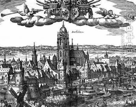 Frankfurt c. 1612 by Matthäus the Elder Merian - Reproduction Oil Painting