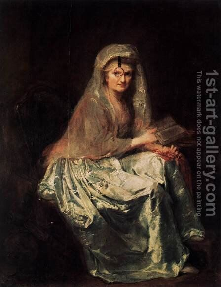 Self-Portrait 1776-77 by Anna Dorothea Therbusch - Reproduction Oil Painting