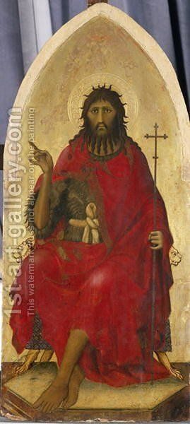 John the Baptist, c.1335 by di Martino Simone - Reproduction Oil Painting