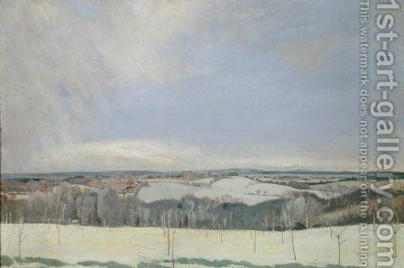The Weald Winter by Charles Sims - Reproduction Oil Painting
