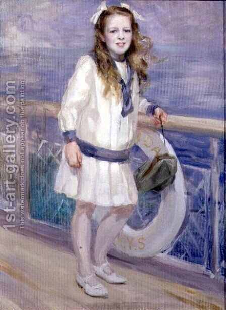 Girl in a Sailor Suit by Charles Sims - Reproduction Oil Painting
