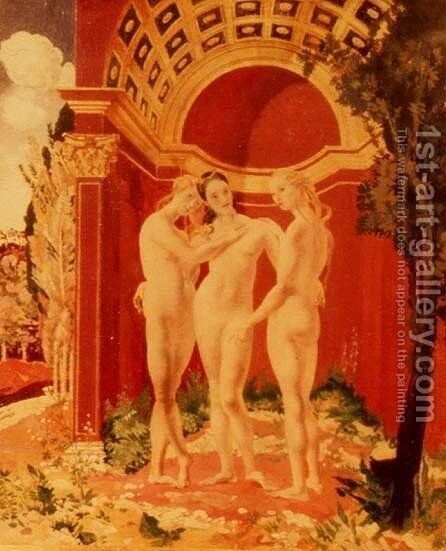 The Three Graces by Charles Sims - Reproduction Oil Painting