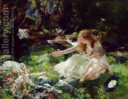 and the fairies ran away with their clothes by Charles Sims - Reproduction Oil Painting