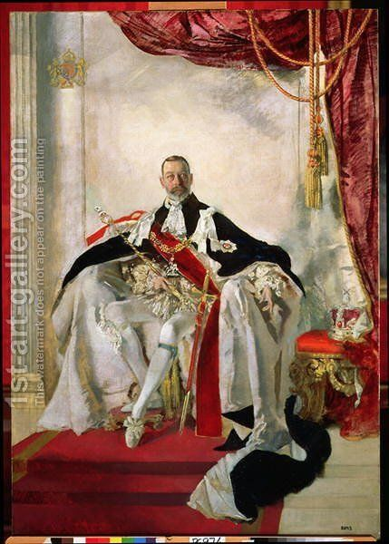 George V by Charles Sims - Reproduction Oil Painting