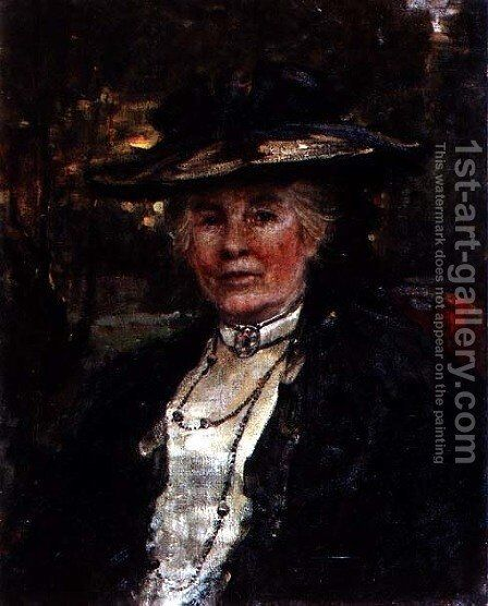 Portrait of Lady Winkworth by Charles Sims - Reproduction Oil Painting