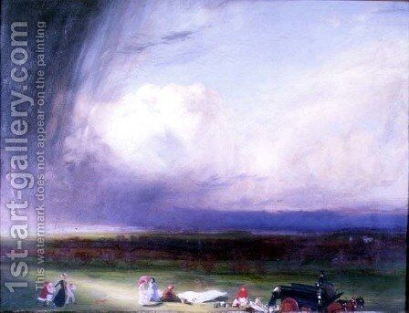 An Interrupted Picnic by Charles Sims - Reproduction Oil Painting