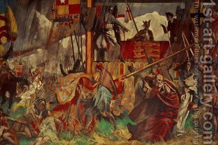 Signing of the Magna Carta, 1215 by Charles Sims - Reproduction Oil Painting