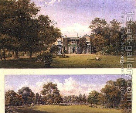 Two views of Old Grove House, Middlesex, 1840 by Gustave Ellinthorpe Sintzenich - Reproduction Oil Painting