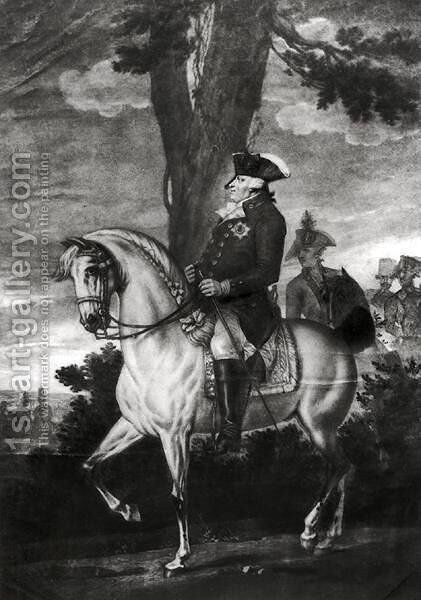 Equestrian Portrait of Frederick William II 1744-97 King of Prussia by Heinrich Sintzenich - Reproduction Oil Painting