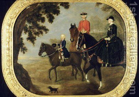 Sir George Hampton and Family, c.1738 by Stephen Slaughter - Reproduction Oil Painting