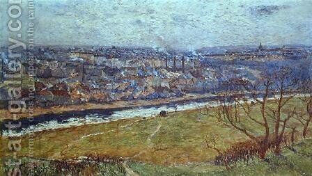 View of Prague from Ladvi by Antonin Slavicek - Reproduction Oil Painting