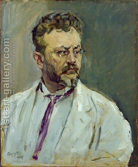 Self Portrait, 1915 by Max Slevogt - Reproduction Oil Painting