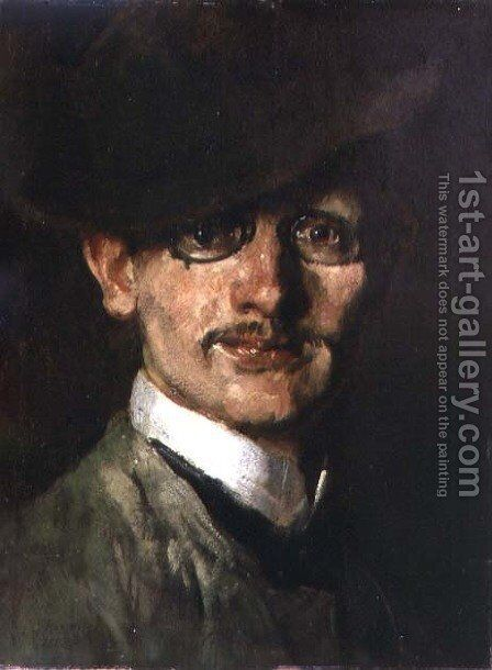 Self Portrait, 1888 by Max Slevogt - Reproduction Oil Painting