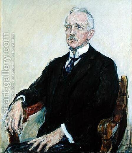 Gustav Pauli 1866-1938 1924 by Max Slevogt - Reproduction Oil Painting