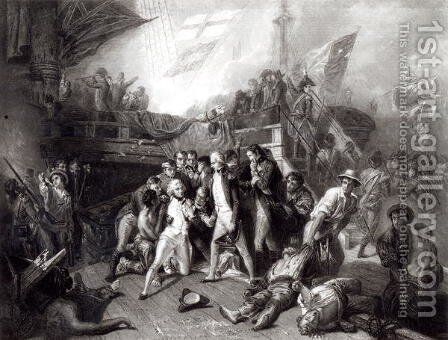 The Death of Nelson by (after) Slingeneyer, Ernest - Reproduction Oil Painting
