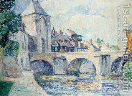 Moret-sur-Loing by Edgar Rowley Smart - Reproduction Oil Painting