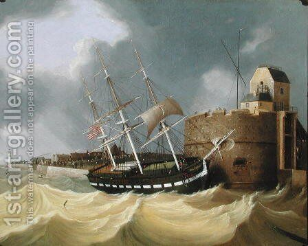 Having a Close Call, 1843 by Henry Smartly - Reproduction Oil Painting
