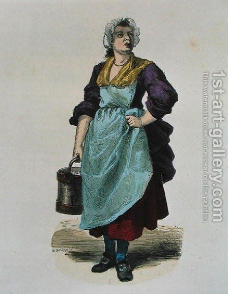 Walnut Seller in 1774 by Burn (Cosson) Smeeton - Reproduction Oil Painting