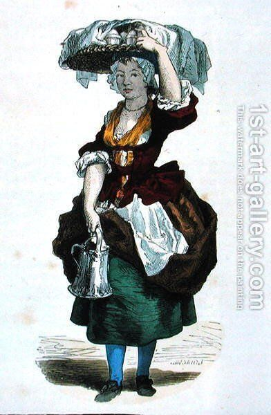 Cream Seller in 1774 by Burn (Cosson) Smeeton - Reproduction Oil Painting