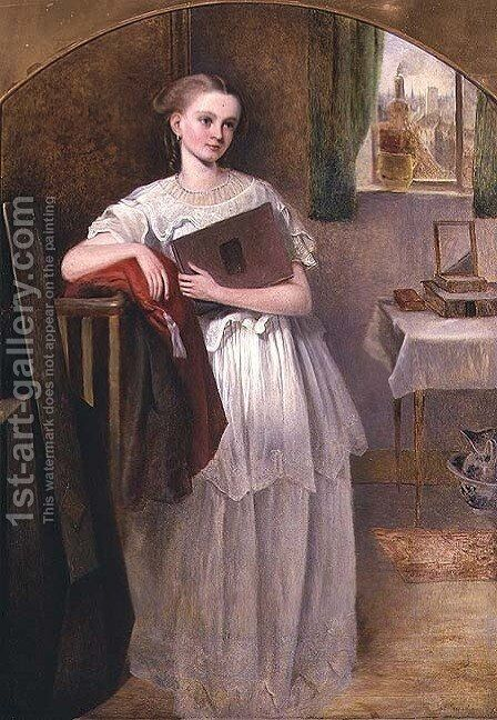 Anna Kull by James Smetham - Reproduction Oil Painting