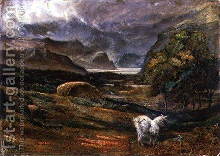 Ullswater by James Smetham - Reproduction Oil Painting