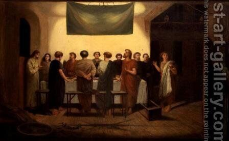 The Last Supper by James Smetham - Reproduction Oil Painting