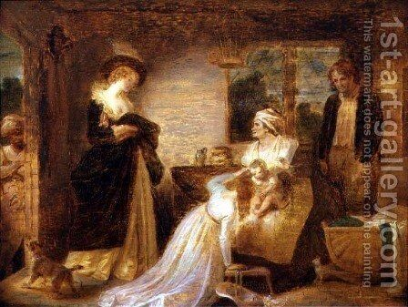 The Seven Ages of Man The Infant from Act II, Scene vii of As You Like it by William Shakespeare c.1798-1801 by Robert Smirke - Reproduction Oil Painting
