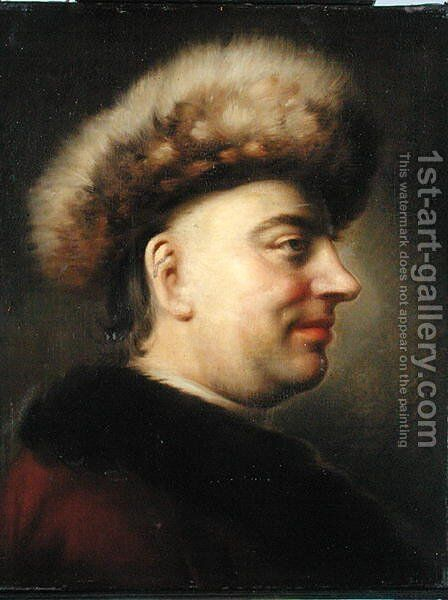 Portrait of the Senator and Poet, Barthold Heinrich Brockes 1680-1747 by Dominicus Van der Smissen - Reproduction Oil Painting