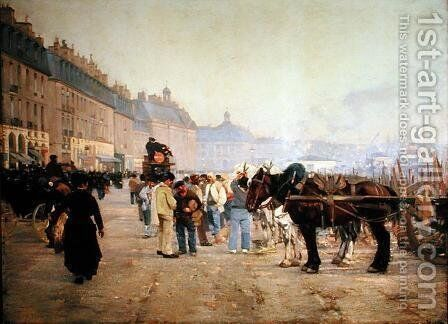 The Pier in Bordeaux in the Morning by Alfred Smith - Reproduction Oil Painting