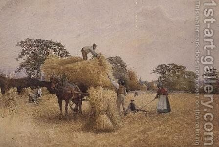 Gathering In by Arthur Reginald Smith - Reproduction Oil Painting