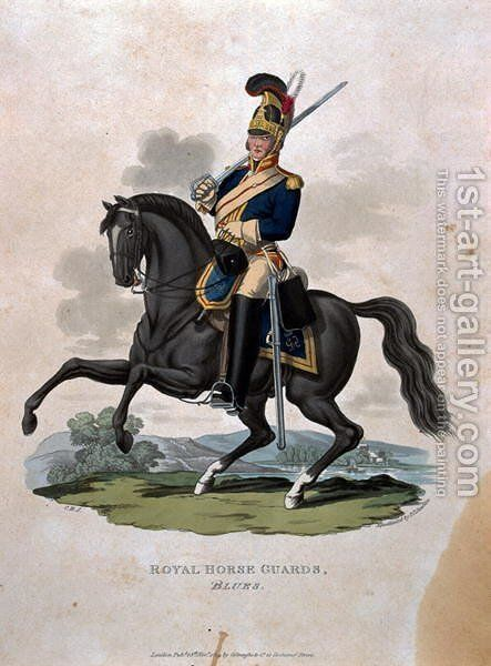 A soldier of the Royal Horse Guards, from Costumes of the Army of the British Empire, according to the last regulations 1812, engraved by J.C. Stadler published by Colnaghi and Co. 1812-15 by Charles Hamilton Smith - Reproduction Oil Painting