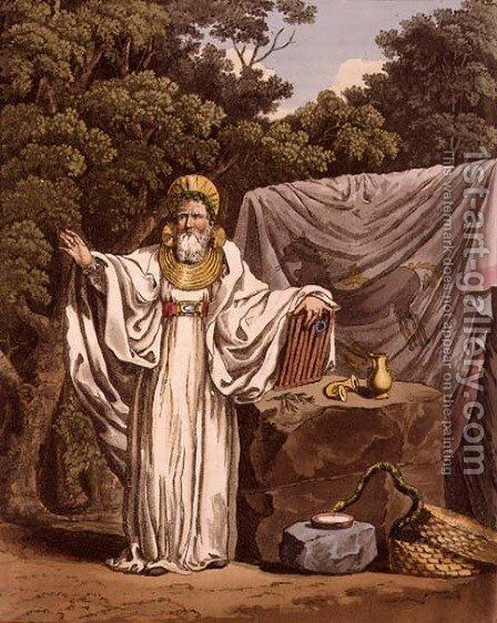 An Arch Druid in his Judicial Habit, engraved by Robert Havell 1769-1832 1815 by Charles Hamilton Smith - Reproduction Oil Painting
