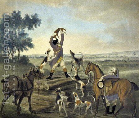 Who...op, Was Never So Carried, from The Pytchley Hunt, engraved by F. Dukes, 1745-1812, 1790 by Charles Lorraine Smith - Reproduction Oil Painting