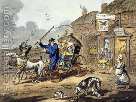 Posting in Ireland, 1805 by Charles Lorraine Smith - Reproduction Oil Painting
