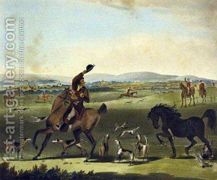 A Check, from The Pytchley Hunt, engraved by F. Jukes 1845-1879, 1790 by Charles Lorraine Smith - Reproduction Oil Painting