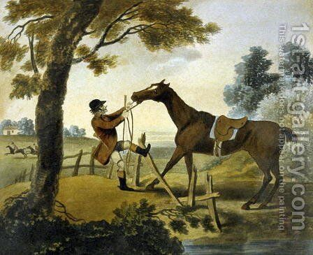 Proof of Bottom, from The Pytchley Hunt, engraved by F. Jukes 1745-1812, 1790 by Charles Lorraine Smith - Reproduction Oil Painting