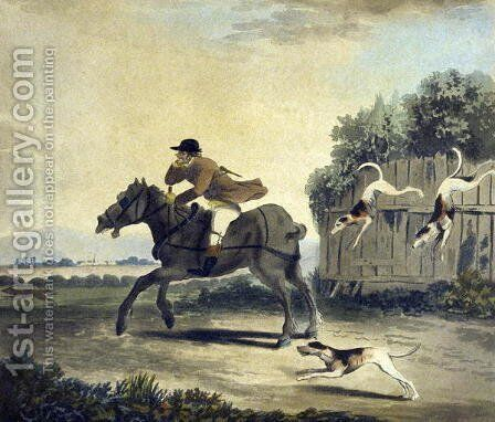 The Fore Horse of the Team, from The Pytchley Hunt, engraved by F.Dukes 1745-1812, 1790 by Charles Lorraine Smith - Reproduction Oil Painting