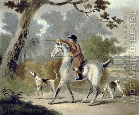 Push Him Tom Boy, from The Pytchley Hunt, engraved by F. Jukes 1745-1812, 1790 by Charles Lorraine Smith - Reproduction Oil Painting