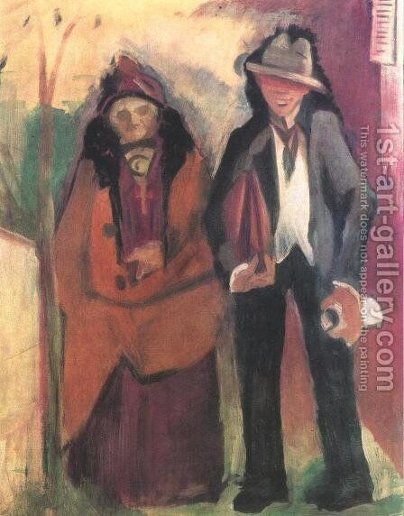 French Poet and his Mother 1932 by Istvan Farkas - Reproduction Oil Painting