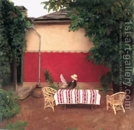 Red Wall 1910 by Karoly Ferenczy - Reproduction Oil Painting