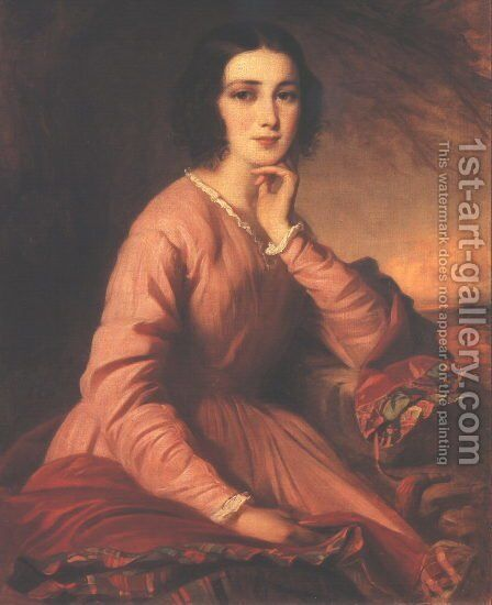 Portrait of Maria Bencsik 1854 by Gyorgyi Alajos Giergl - Reproduction Oil Painting