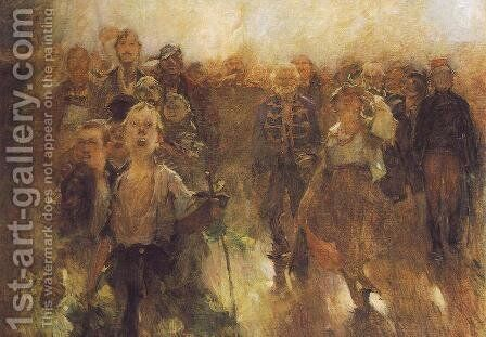 The Rakoczi March sketch 1899 by Simon Hollosy - Reproduction Oil Painting