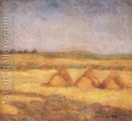 After the Harvest 1908 by Simon Hollosy - Reproduction Oil Painting