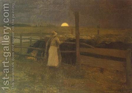 Moon Rise 1897 by Bela Ivanyi Grunwald - Reproduction Oil Painting