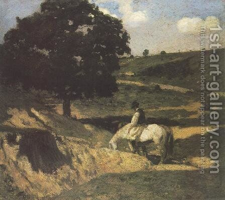 Watering 1902 by Bela Ivanyi Grunwald - Reproduction Oil Painting