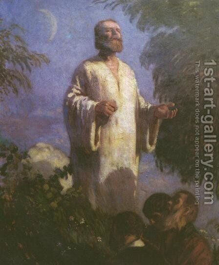 Christ in Garden Getsmane 1903 by Bela Ivanyi Grunwald - Reproduction Oil Painting