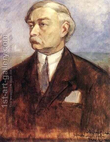 Self-portrait by Bela Ivanyi Grunwald - Reproduction Oil Painting