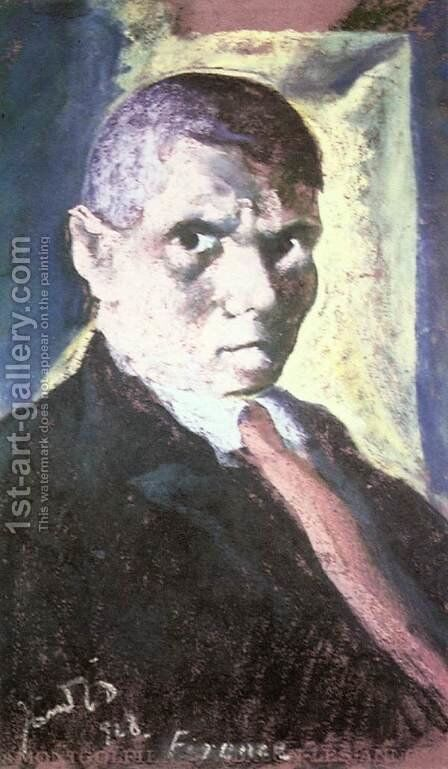 Self-portrait in Florence 1928 by David Jandi - Reproduction Oil Painting