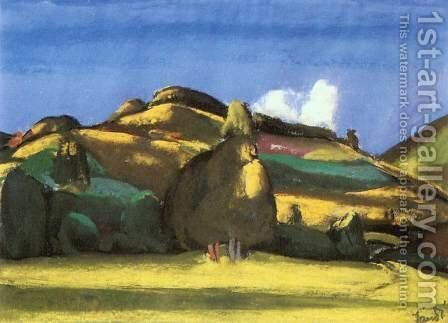 Sunny Landscape 1933 by David Jandi - Reproduction Oil Painting
