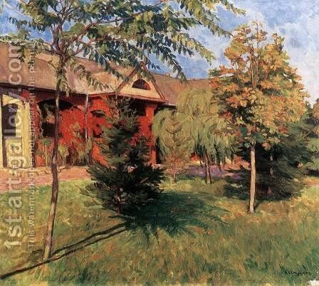 The Artists Colony at Szolnok by Janos Kleh - Reproduction Oil Painting